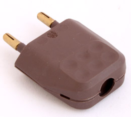 Prise electrique fiche male plate marron mang sa bosman nv - Prise electrique male ...